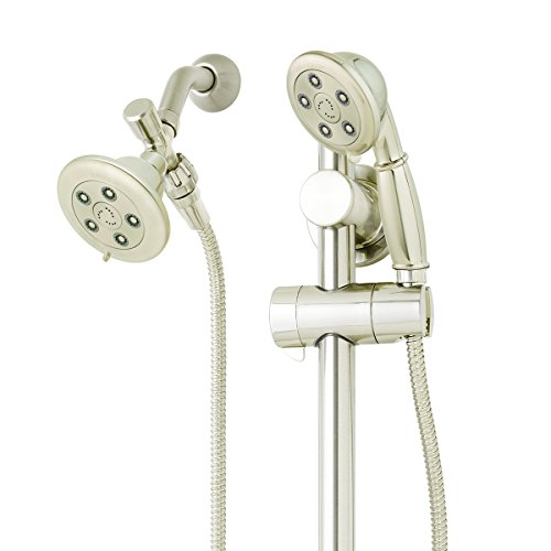 Speakman VS-123011-BN Alexandria Anystream Dual Shower Head Combo System with Adjustable Slide Bar, Brushed Nickel by Speakman - Speakman Duschkopf