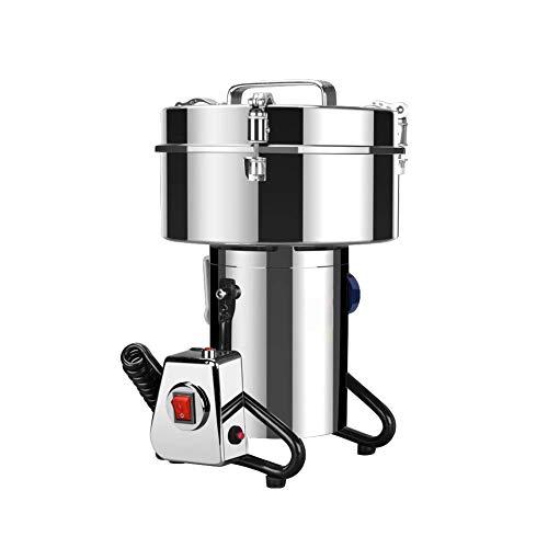 Hiyougen Elektrische Getreidemühlen, Getreidemühle, Timing-Schleifmaschine, Edelstahl-Schleifmühle zum Schleifen verschiedener Körner, Gewürze, Kaffeebohnen, Pfeffer, Kakao, Samen (2500g) -
