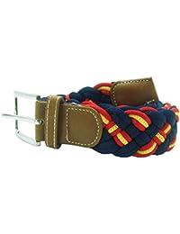 Cinturón verde trenzado con bandera de España 120cm Qh1rO1V9t