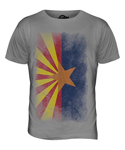 CandyMix Bundesstaat Arizona Verblichen Flagge Herren T Shirt Hellgrau