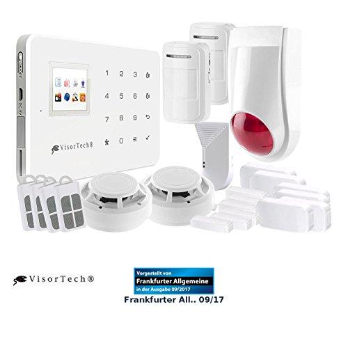 VisorTech Alarm: Funk-Alarmanlage mit WLAN- & GSM-Anbindung, 17-Teiliges Starter-Set (Funkalarm)