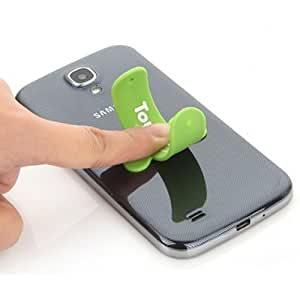 Touch-U One Touch Silicone Universal Portable Stand for iPhone Samsung HTC Green