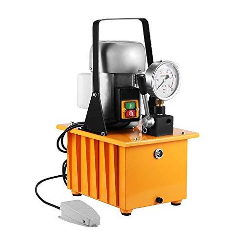 FlowerW Ölpumpe 10000PSI Hydraulikpumpe Elektrische Handventilmotorpumpe (Eine Röhre)