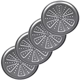 SIDCO Pizzablech 4 Stück Backblech gelocht Blech rund antihaftbeschichtet Kuchenblech