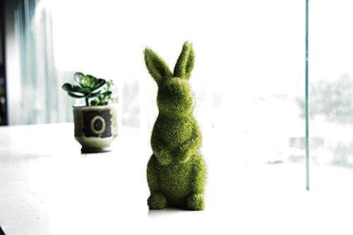JYSPORT Estatuas conejo Pascua flocado Furry Animal