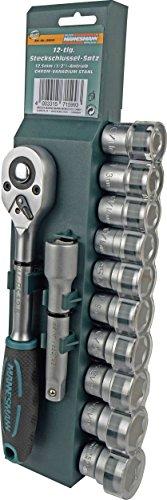"""Brüder Mannesmann Werkzeuge Mannesmann 12-teiliger Steckschlüsselsatz 12,5 mm (1/2\"""") Antrieb, M29111"""