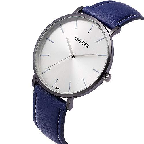 Kinlene Damen Mode-Entwurfs-Leder-Retro- Entwurfs-Leder-Band-analoge Legierungs-Quarz-Armbanduhr Uhren