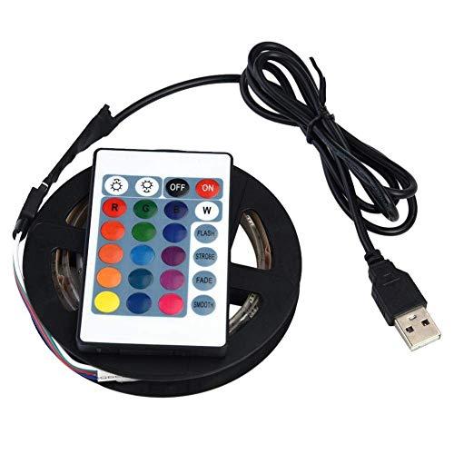 Fdit LED-Lichtband, wasserdicht, Mehrfarbig, 5050 RGB, LED, mit Fernbedienung, für Fernseher, 5 V, USB Backlight Kit, 3 m