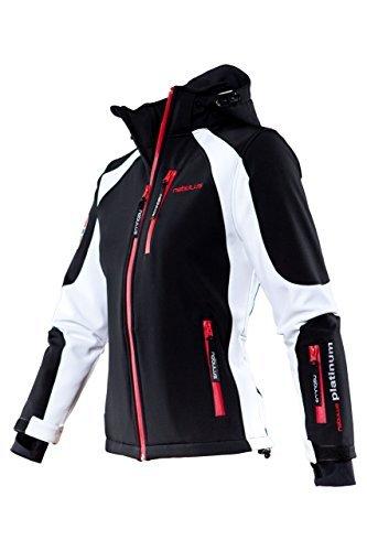 Nebulus Platinum Rockshell Veste de ski femme Noir/Blanc FR : M (Taille Fabricant : M)