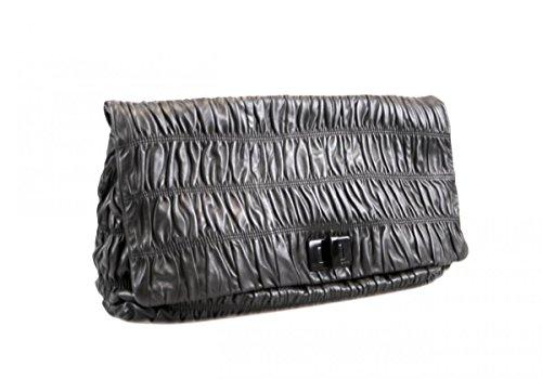 Prada , Damen Tote-Tasche Schwarz schwarz (Leder Tasche Prada Tote)