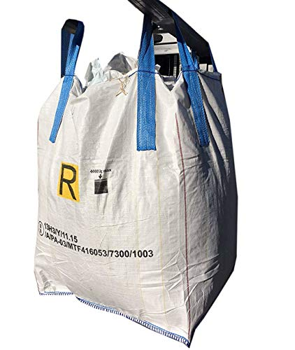 d4895e0376 SACCONI BIG BAG OMOLOGATI per rifiuti pericolosi ADR 13H3 Y 90x90x120cm 5 pz
