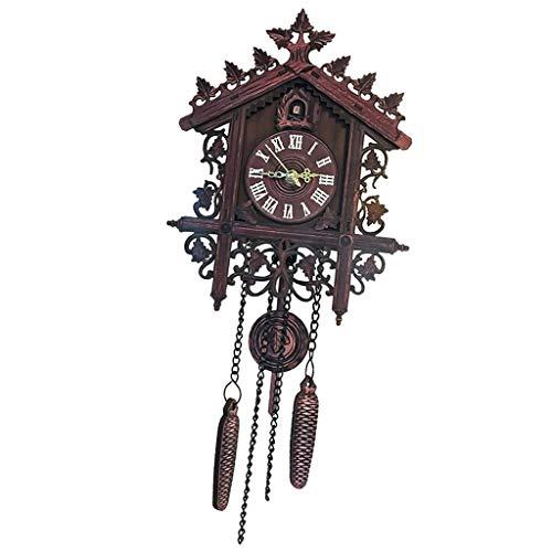 D DOLITY Holz Kuckucksuhr Kuckuck Uhr Schwarzwald Wanduhr Ornament für Wohnzimmer Kinderzimmer - 1