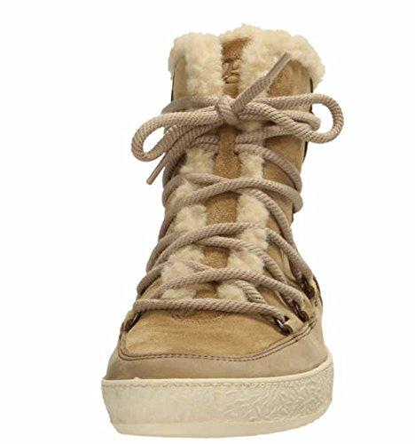 Paul Green Damen Ankle Boots Hohe Sneaker Caramel