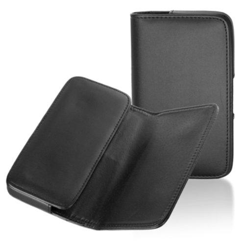 Handytasche Quertasche passend für LG D505 Optimus F6 Handy Schutz Hülle Slim Case Cover Etui schwarz (Case F6 Handy Lg)