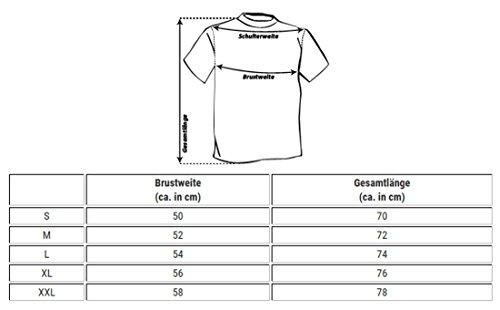 Key Largo Herren Biker Look T-Shirt vintage slimfit tailliert Motorrad Druck Printshirt tiefer Rundhals Ausschnitt Gelb