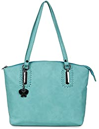 Butterflies Women Handbag (Light Green) (BNS 0657LGN)