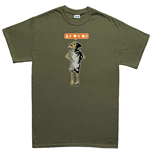Customised Perfection ElfInstagramWizardFunnyMensT Shirt(Tee) MGR L Military Green