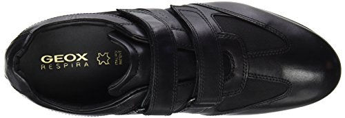 Geox - U Symbol D, Sneaker Uomo Nero (Negro (Black))