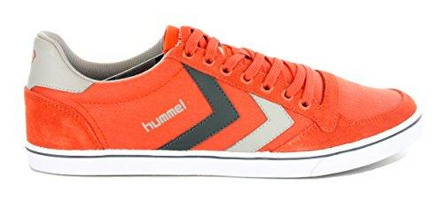 HUMMEL SL STADIL CANVAS LO. TURNSCHUHE FÜR HERREN UND DAMEN, FARBE ORANGE (GRÖßE 40 EUR = 6.5 UK) (Orange Canvas Schuhe)