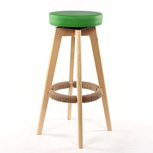 ANDEa Retro Tabouret de bar en bois massif Chaise de bar, tabouret de restaurant circulaire Chaise à tabouret à caisse Chaise à manger Chaise à café Tabouret à hauteur élevée Chaise haute Tabouret à manger 65-74 cm Originalité ( Couleur : #4 , taille : 65cm )