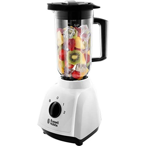 41 9EHJTxPL. SS500  - Russell Hobbs 24610 Plastic Jug Blender, 1.5 Litre Capacity and Two Speed Settings, 400 W, White