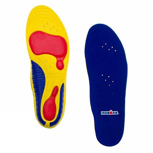 Spenco Ironman - Llanta de deporte, tamaño 37-41, color azul/rojo/amarillo