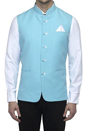 Favoroski Sleeveless Nehru Jacket with Mandarin Collar for Men