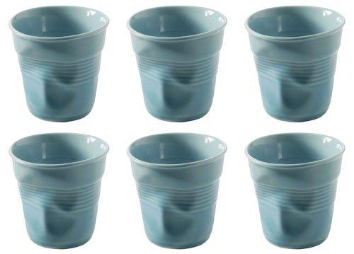 REVOL Froisses Lot de 6 tasses à café expresso Lot, Bleu Caraïbes
