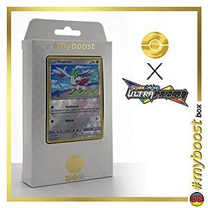 Shaymin 111/156 Holo Reverse - #myboost X Sonne & Mond 5 Ultra-Prisma - Box de 10 Cartas Pokémon Aleman