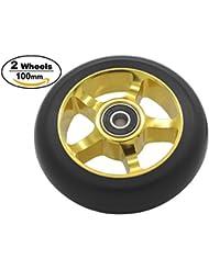 Pro Scooter Rueda 100mm rueda de repuesto con ABEC-9rodamientos -- 2pcs