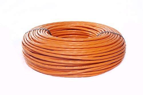 BIGtec–100m CAT.7cat5sh–Gigabit 10Gbit Cable de red cat.71000MHz SFTP S/FTP Cat721001–Cable de instalación Cable PiMF Cat.7Red CAT7cableado 100m Cable LAN Cable de datos CAT74x 2x AWG23/1, naranja 100m CAT 7Cat.7CAT7Cable de red Gigabit 10/100/1'000/10' 000Mbit de conexión para Patch Panel, latas de red y otros