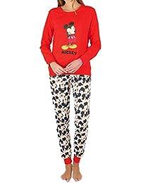 Disney Pijama Manga Larga Navidad Mickey para Mujer