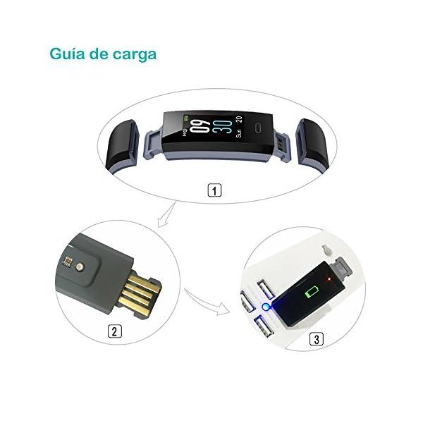 Willful Pulsera Actividad, Pulsera Actividad Inteligente Pantalla Color Reloj con Pulsómetro Impermeable IP68 Podómetro… 9