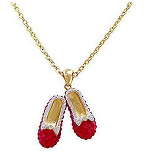 Butler and Wilson Halskette mit Anhänger Dorothys Schuhe Rot