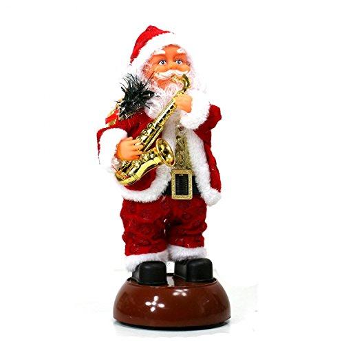 Automate Père Noel Musical Lumineux