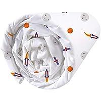 MATT & ROSE Explore Space Drap Housse, Coton, Blanc, 90X190 Cm