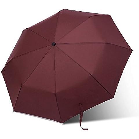 Paraguas al aire libre, Viajes Paraguas plegable Paraguas, 8 costillas, la máxima protección duradera y fuerte
