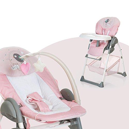 Hauck Sit N Relax - Hamaquita balancin y trona para recién nacidos, respaldo reclinable, chasis ligero...