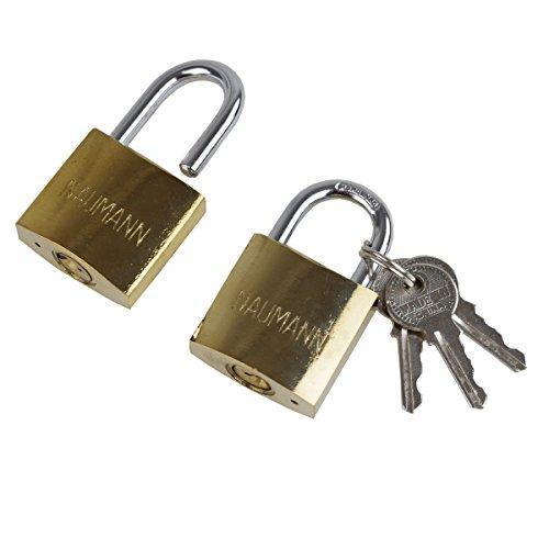 Vorhängeschloss 2er Set 32mm gleichschließend 3 Schlüsseln Sicherheitsschloss