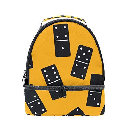 tizorax Domino Muster Isolierte Lunch Tasche Lunch Box Picknick Tasche Schule Kühltasche für Männer Frauen Kinder (Domino-muster)