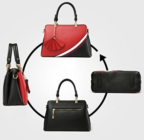 Fabelhaft Kampf-Farben-Art- Und Weiseschulter-Beutel-große Kapazitäts-Damen-Handtasche WineRed