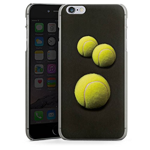 Apple iPhone 6 Silikon Hülle Case Schutzhülle Tennis Bälle Sport Hard Case anthrazit-klar