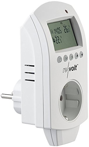 revolt Steckerthermostat: Digitales Steckdosen-Thermostat für Heiz- & Klimageräte, 3.680 Watt (Frostwächter)