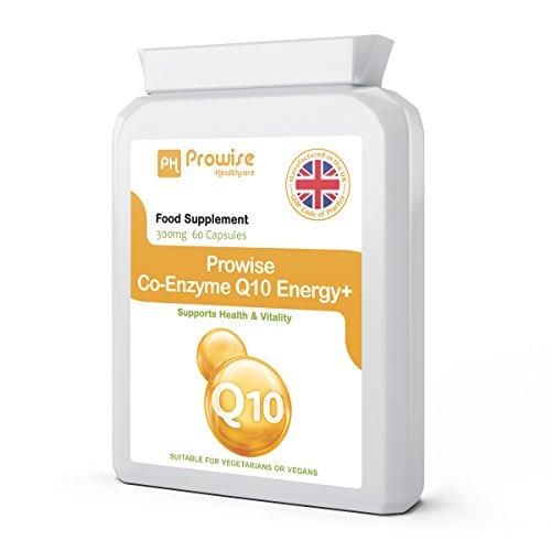 Prowise Co-Enzima Q10 (CoQ10) 300mg 60 cápsulas vegetarianas - Rápida liberación de alta absorción - Reino Unido Fabricado GMP Calidad Asegurada Co-Q-10 Suplemento