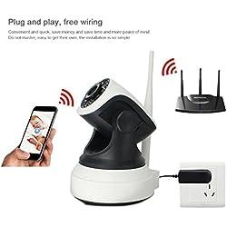 Überwachungskamera Ip, IP Kamera Tur, Wifi Kamera PC Dome Kamera Indoor Wlan PTZ / IP Cam Mini - Echtzeit-Video-Video-Wiedergabe & Drahtloses Alarmsystem