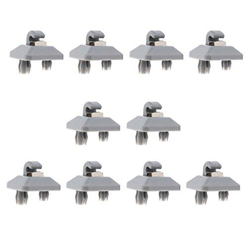 Sharplace 10 x Kunststoff Haken für Sonnenblenden für alle Arten von Autos, Ersatz Zubehör - Grau (Auto Sonnenblende-ersatz)