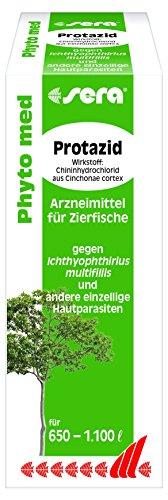 Sera 32279 Phyto med Protazid Arzneimittel für Zierfische gegen Ichthyophthirius multifiliis und andere einzellige Hautparasiten, 100 ml