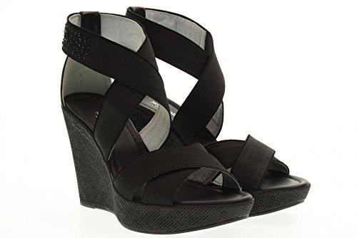 NERO GIARDINI sandales compensées chaussures P717640D / 100 Black