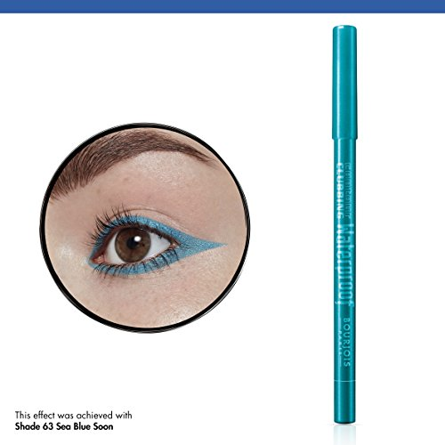 Bourjois Contour Clubbing Waterproof Eye Pencil Eyeliner and Eyeshadow 63 Sea Blue Soon, 1.2g