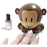 LAAT Secador de esmalte de uñas Secador de uñas en forma de mono Secador de manicuras Herramienta de maquillaje de uñas